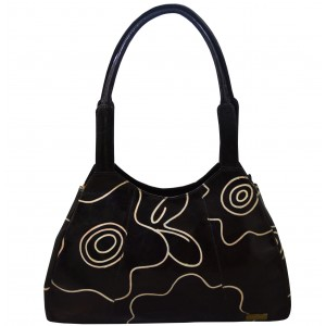 arpera | Leather Handbag | LB-86-1 | Black