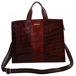 arpera | Leather Handbag | C11010-4| Bordo