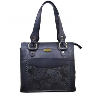 arpera | Leather Handbag | c11414-7A | Grey