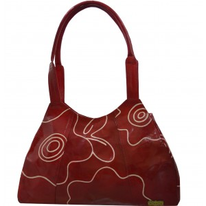 arpera | Leather Handbag | LB-86-3| Red