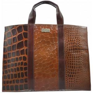 arpera | Leather Handbag | C11010-2 | Brown