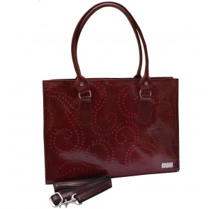 arpera | Leather Handbag | C11146-4 | Bordeaux