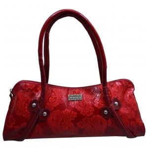 arpera | Leather Handbag | C11331-3 | Red