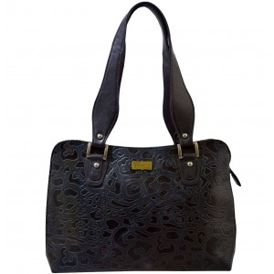 arpera | Leather Handbag | C11334-2 | Grey-Black