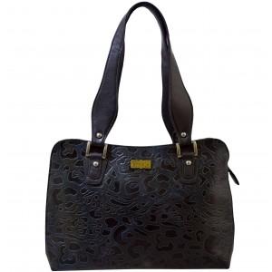 arpera | Leather Handbag | C11334-2 | Grey-Black