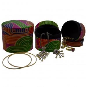 arpera    Leather 3 in 1 Jewellery Case   C11407-8B    Multicolor