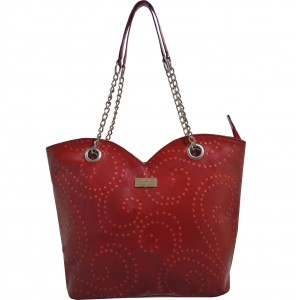 arpera | Leather Handbag | C11364-3 | Red