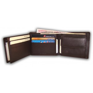 arpera     Leather Mens Wallet   C11305- 2   Brown