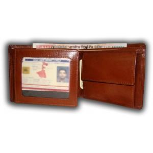 arpera     Leather Mens Wallet   C11313-3   Tan Brown