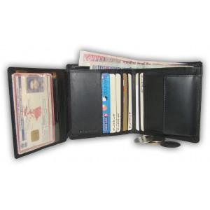 arpera     Leather Mens Wallet   c11315-1   Black