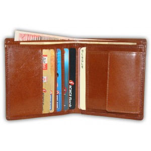 arpera |   Leather Mens Wallet | C11316-3 | Tan Brown