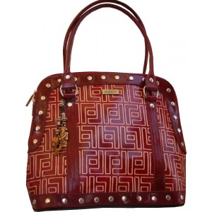 arpera | Leather Handbag | C11157-4 | Maroon