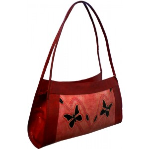 arpera | Leather Handbag -LB 19 | Red b