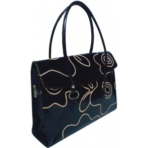 arpera | Leather Handbag | LB 202-1A | Black