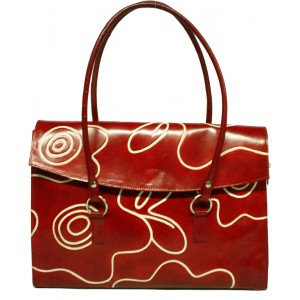 arpera | Leather Handbag | LB202-3 | Red