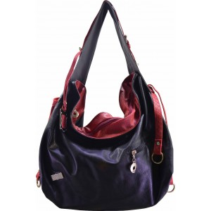 arpera |  Handbag | c11221-1 | Black/grey