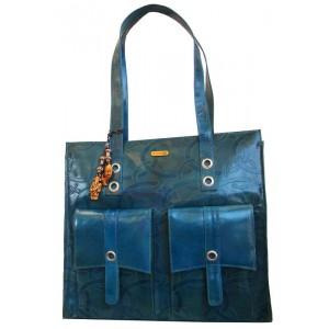 arpera   Leather Handbag   c11150-7   Turquise