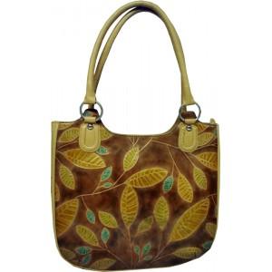 arpera   Leather Handbag   lb015a-91   Beige