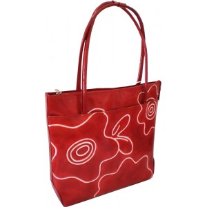 arpera | Leather Handbag | LB71-3 | Red