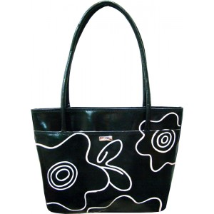 arpera | Leather Handbag | c11144-1A | Black