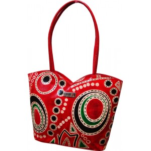 arpera | Leather Handbag | C11149-3 | Red