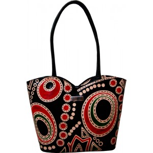 arpera | Leather Handbag | C11149-1 | Black