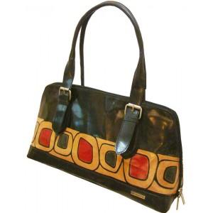 arpera | Leather Handbag | C11158 | Black-cells