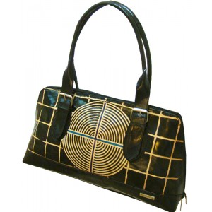 arpera | Leather Handbag | C11158 | Black | circle