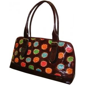 arpera   Leather Handbag   C11158-2    Red brown