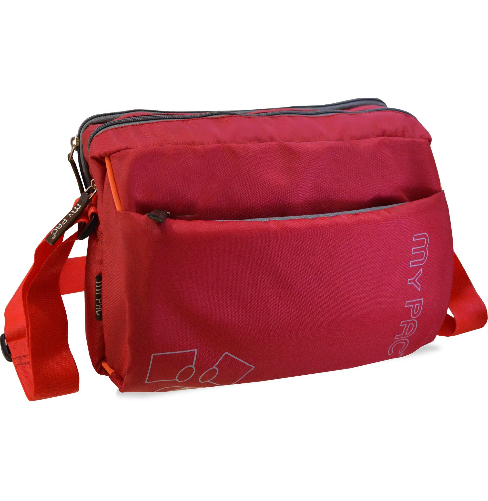Mypac Vivaa Polyester Crossbody Ipad Camera Travel Sling Bag Red C11584 3