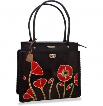 arpera | Leather Handbag | C11340-1B | Black