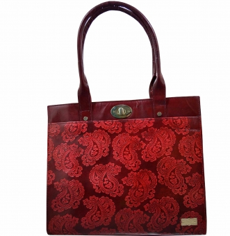 arpera   Leather Handbag   c11159-4  Bordo