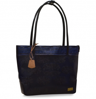arpera Blue Terracotta Leather Handbag C11479-5A