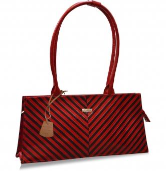 arpera Red Stripes  handbag C11447-3A