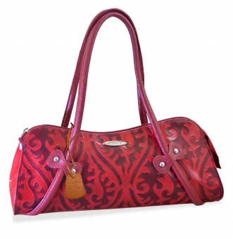 arpera  Genuine Leather Handbag|red |C11526-3