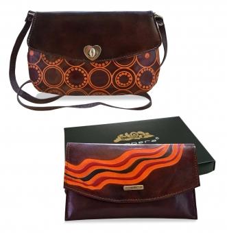 Arpera leather sling bag gift combo for women CB16016