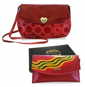 Arpera leather sling bag gift combo for women CB16017