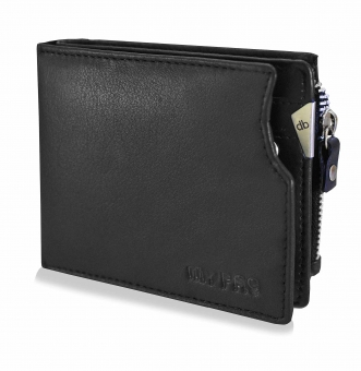 mypac cruise black Genuine Leather wallet with atm card holder for men  C11573-1