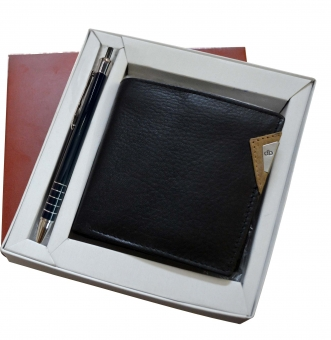 My pac  Leather Wallet and Pen  gift Combo for men CB16038