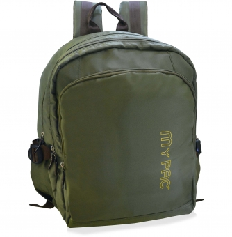 My Pac Ultra Trendy 15 inch Laptop backpack for men khaki  C11590-12