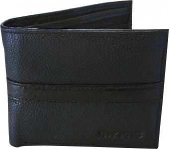 my pac db Vogue Rfid protected genuine leather  wallet Black -Brown C11597-12S