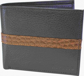 my pac db Vogue Rfid protected genuine leather  wallet Black -Tan C11599-121S