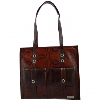 arpera | Leather Handbag | c11150-2 | Brown