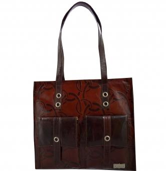 arpera   Leather Handbag   c11150-2   Brown